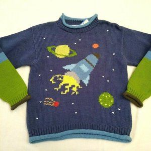 Other - Mulberribush Boy's Blue Space Sweater Size 10 New